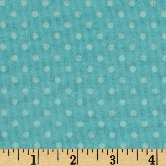 Whoo's Cute Flannel Dots Blue