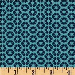 Moda Sunday Supper Table Cloth American Blue-Teal