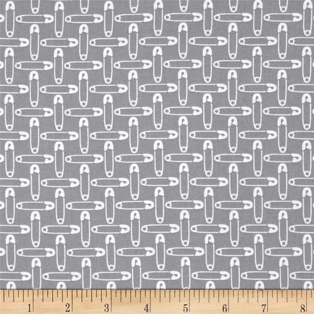 Small Talk Safety Pins Gray