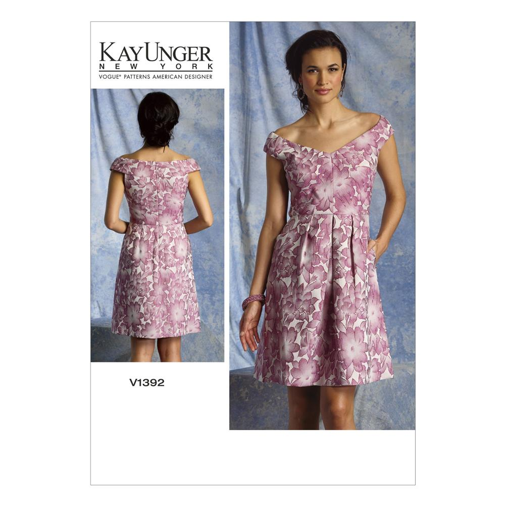 Vogue Misses' Dress Pattern V1392 Size B50