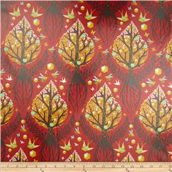 Tula Pink Birds & Bees Laminate Tree Of Life Cinnamon