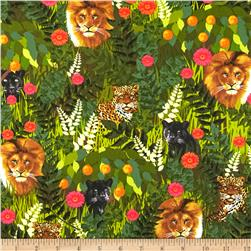 Kanvas Sew Rousseau Rousseau Jungle Jungle Green Fabric
