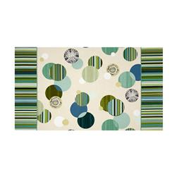 Manhattan Modern Carousel Double Border Green/Multi