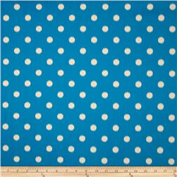 Premier Prints Ikat Dots Grasshopper Blue