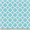 Riley Blake Medium Quatrefoil Aqua