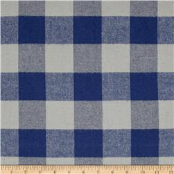 Kaufman Tahoe Flannel Plaids 7.2 Oz Double Brushed Med Buffalo Blue