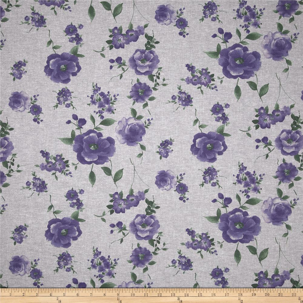 Floral Chambray Grey/Purple/Green