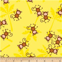 Timeless Treasures Jungle Jam Monkeys Yellow