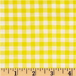 "Richcheck 60"" Gingham Check 1/4"" Yellow"