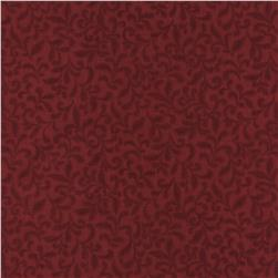Timeless Treasures Americana Sprigs Red Fabric