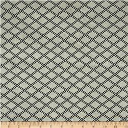 Duralee Lattice Diamonds Satin Jacquard Charcoal
