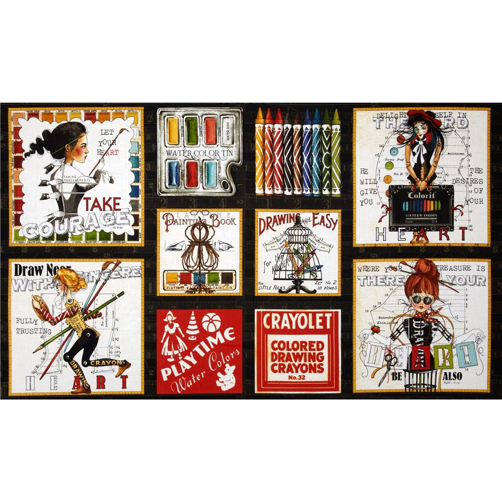 Draw Near Picture Patches Panel Black
