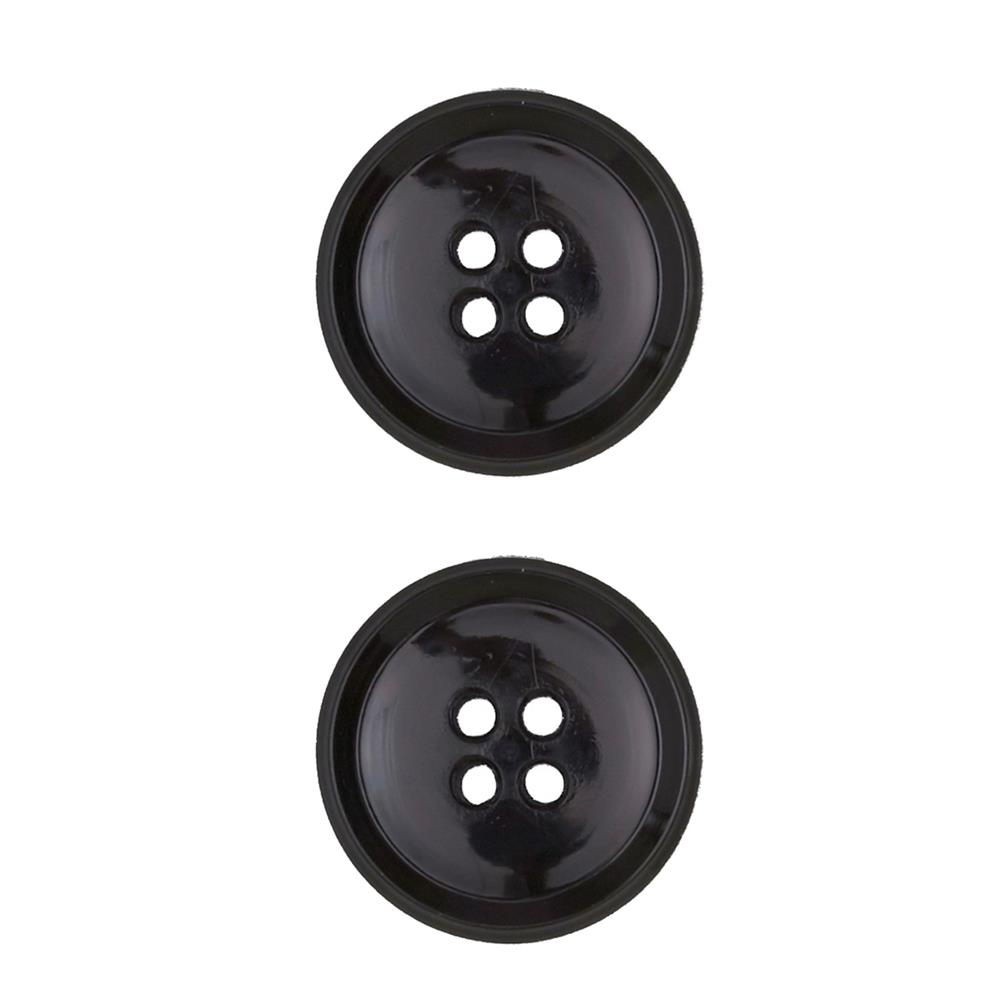 Dill Buttons 7/8'' Polyamid Button Black