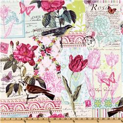 Michael Miller French Journal Collection Bell Rose Pink