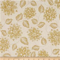 Robert Kaufman Winters Grandeur Metallic Snowflakes & Leaves