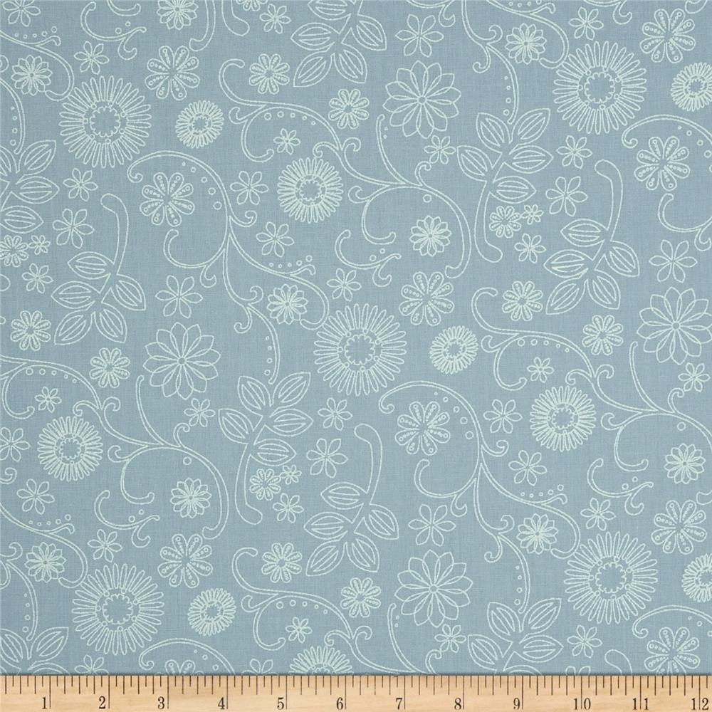 "110"" Wide Quilt Back Signature Sky Blue"