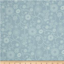 110'' Wide Quilt Back Signature Sky Blue Fabric