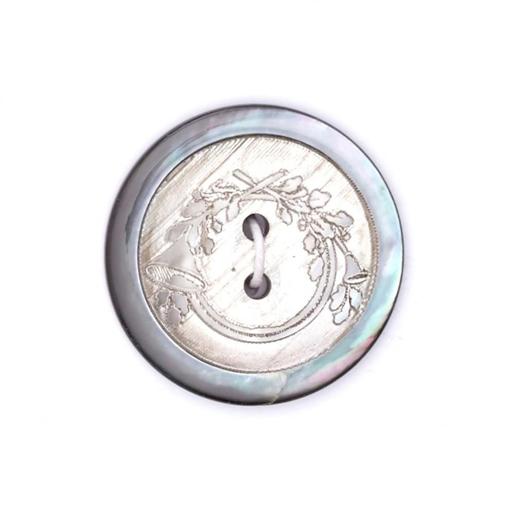 "Fashion Button 1"" Fox Hunt Grey"