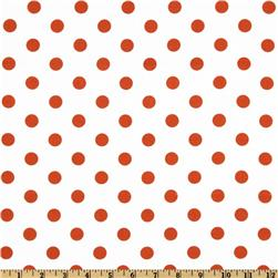 Polka Dots White/Orange