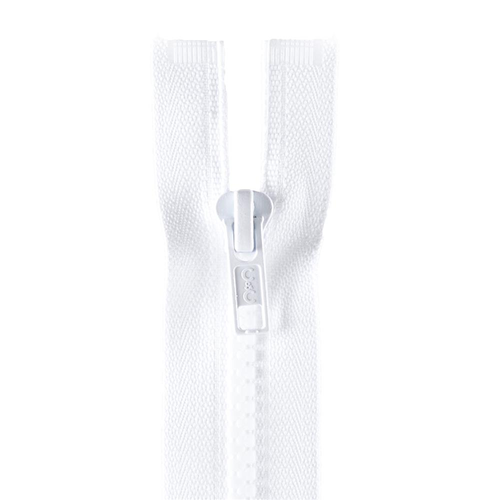 "Coats & Clark Sport Separating Zipper 16"" White"