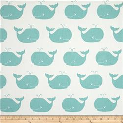 Premier Prints Whale Tales Twill White/Canal