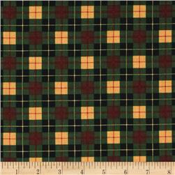 Timeless Treasures Cabin Plaid Pine