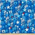 Kanvas Star Spangled Lady Liberty Blue