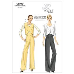 Vogue Misses' Vest, Jacket and Pants Pattern V8717 Size AA0