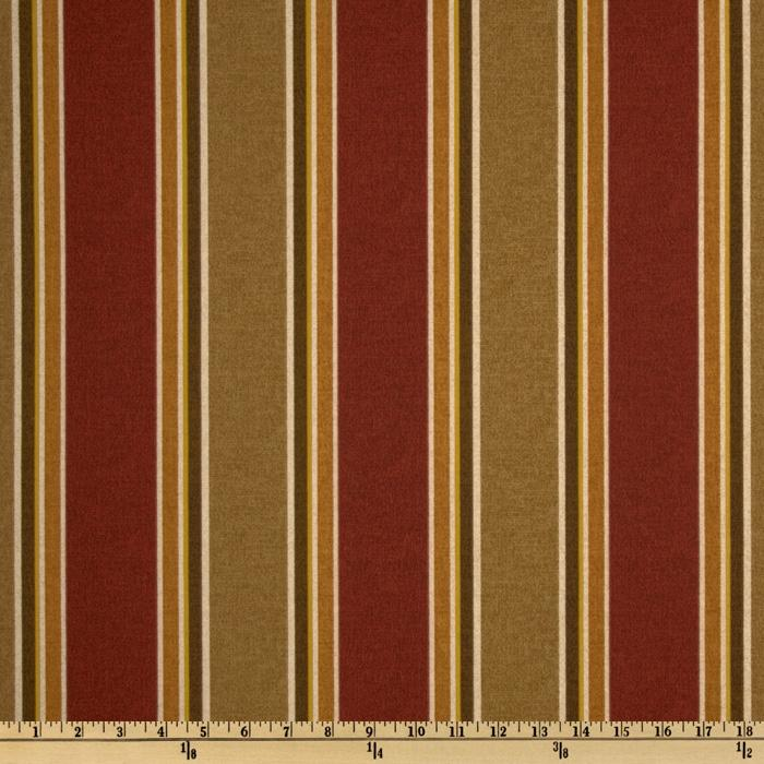 Richloom Indoor/Outdoor Echo Stripe Garnet