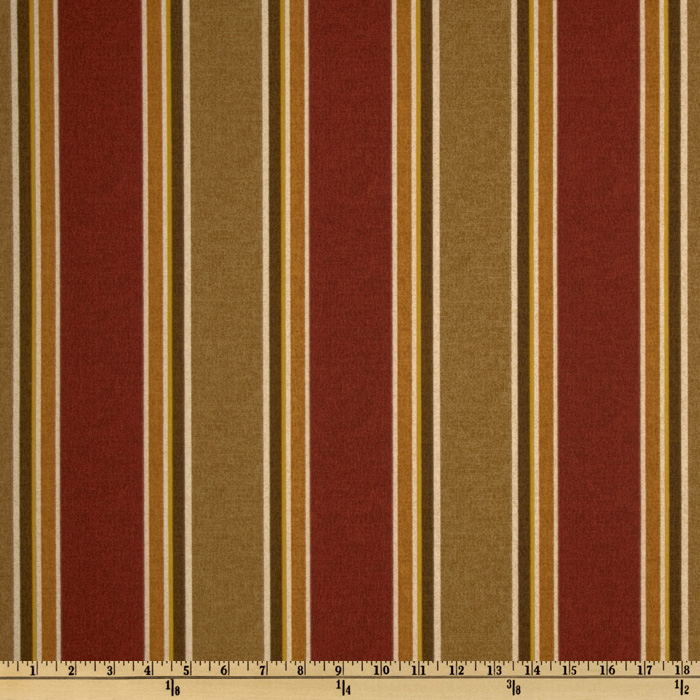 Maco Indoor/Outdoor Echo Stripe Garnet Fabric
