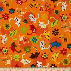 Creatures & Critters Tossed Cats Orange