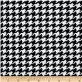 Mini Houndstooth Techno Scuba Print Ivory/Black ZX