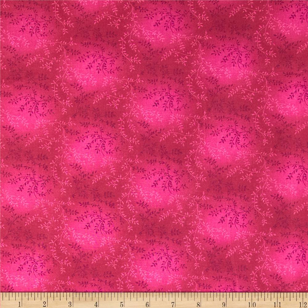 "108"" Wide Quilt Back Tonal Vineyard Fuchsia"