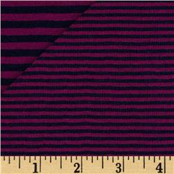 2 Sided Double Knit Stripe Purple/Navy
