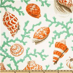 P Kaufmann Indoor/Outdoor Seashell Branch Coral Fabric