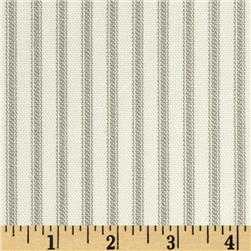 Vertical Ticking Stripe Ivory/Taupe