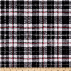 Yarn Dyed Flannel Plaid Black/White/Red