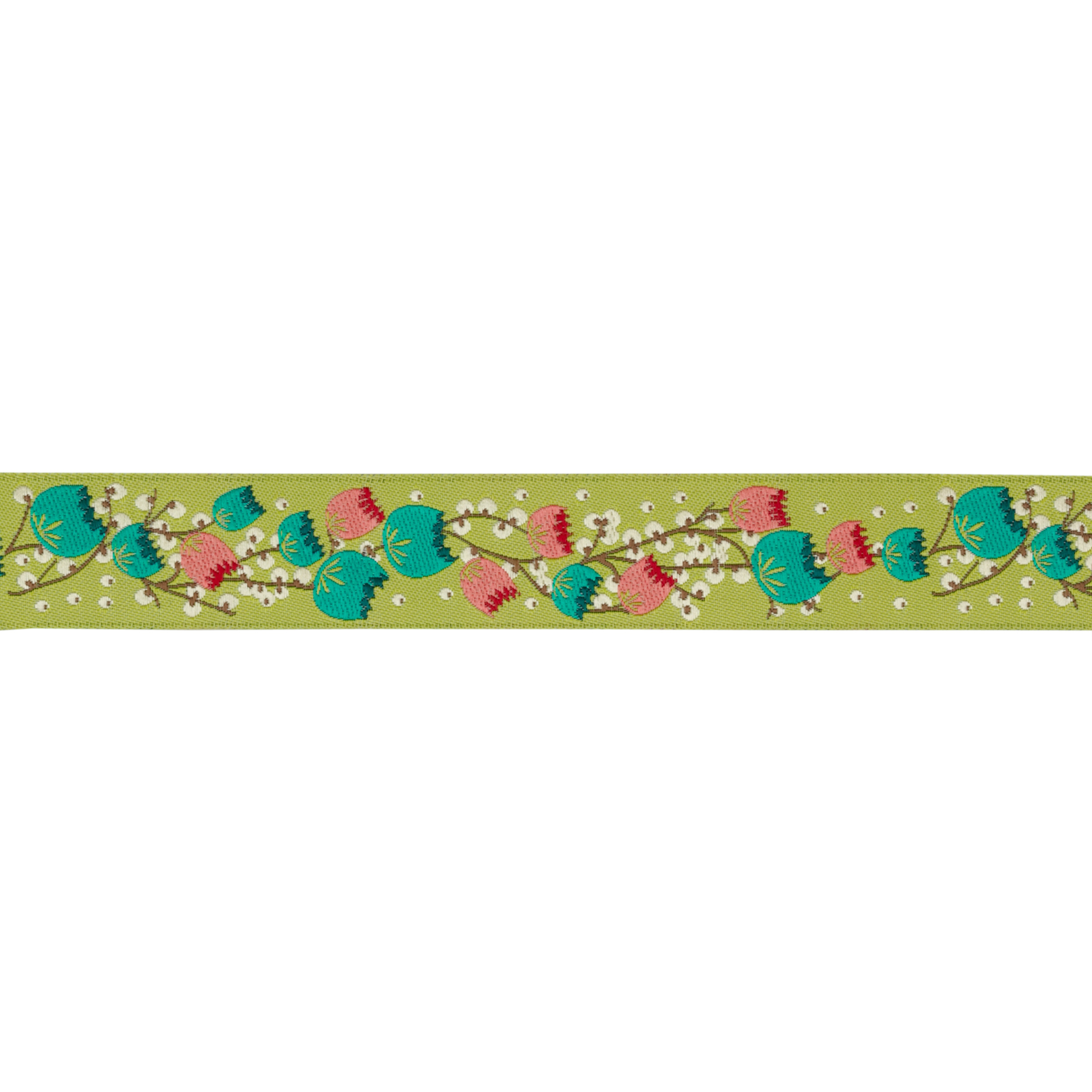 7/8'' Anna Maria Horner Ribbon Early Risers Turquoise/Green