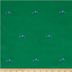 Embroidered 21 Wale Corduroy Truck Green/Blue
