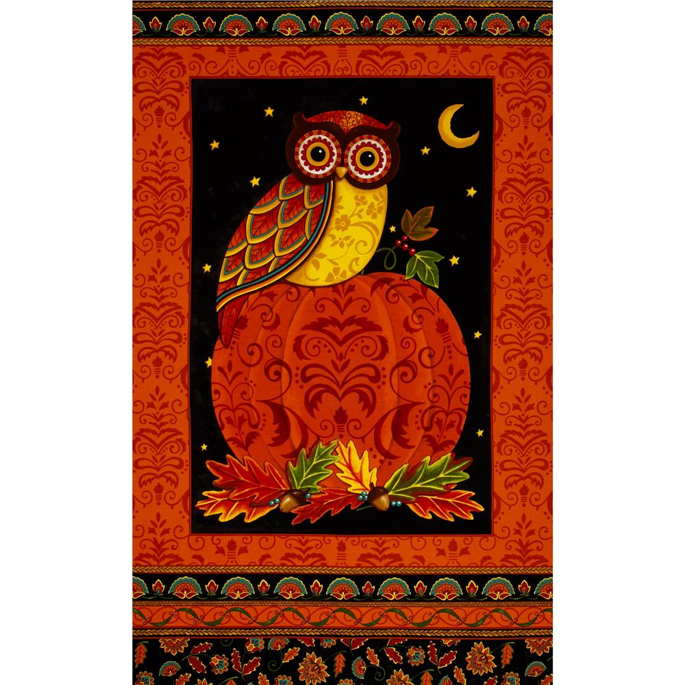 Moda Forest Fancy 24 In. Owl Panel Harvest