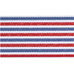 "1 1/2"" Grosgrain Stripes Red/White/Blue"