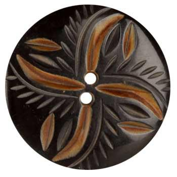 Genuine Horn Button 1 3/4'' Lina Black