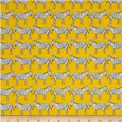 Zaza Zoo Zebras Yellow