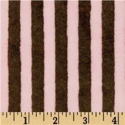 Minky Cuddle Striped Brown/Pink Fabric
