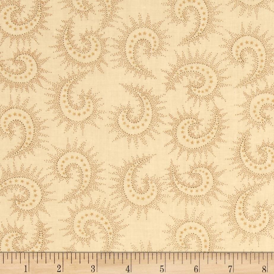 "108"" Quilt Backing Spiced Paisley Light Tan"