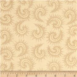 108'' Quilt Backing Spiced Paisley Light Tan Fabric