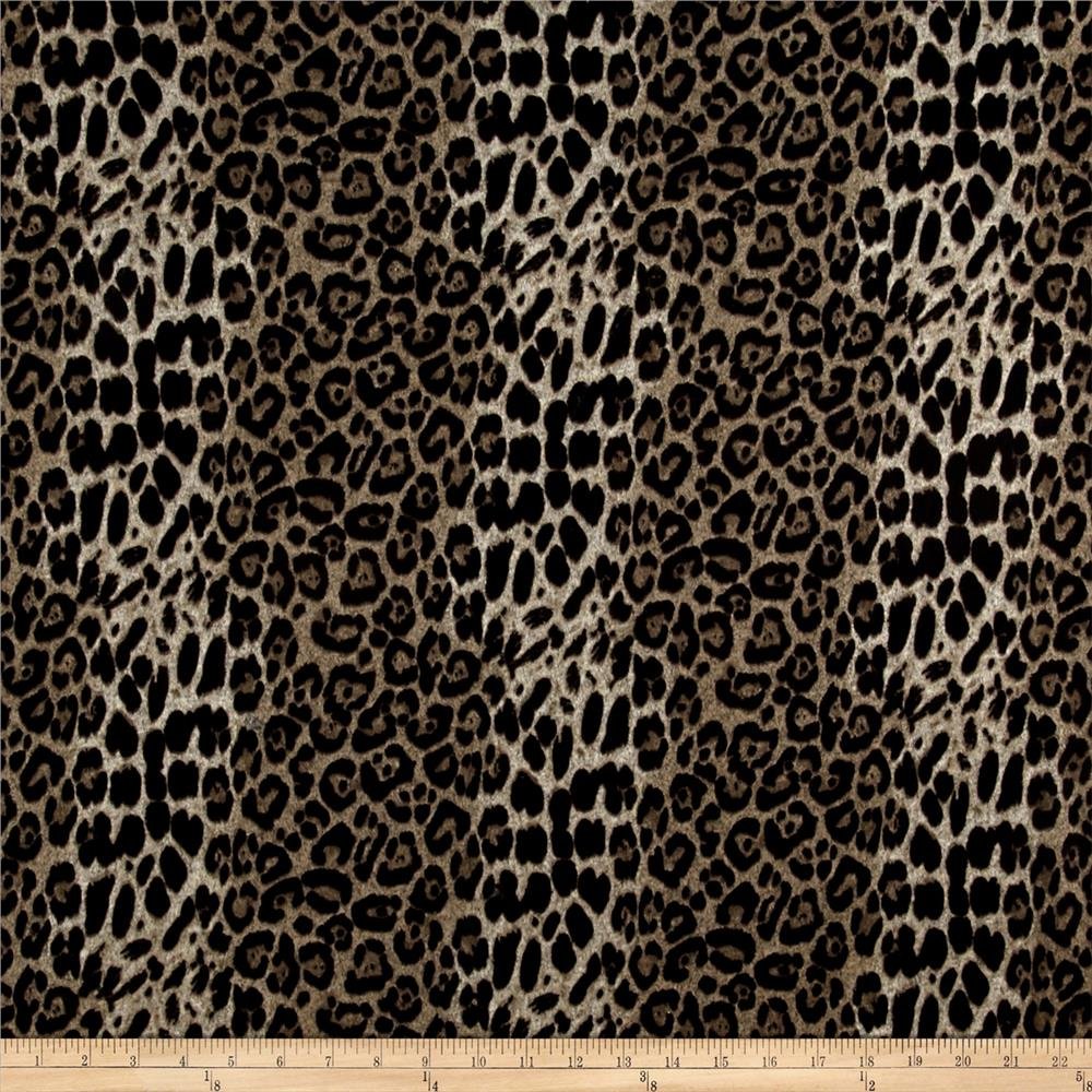 Hatchi Sweater Knit Cheetah Print Black