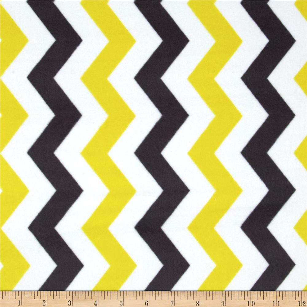 Michael Miller Citron Gray Cozy Shimmy Shake Chevron