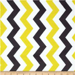 Michael Miller Citron Gray Cozy Shimmy Shake Chevron Citron