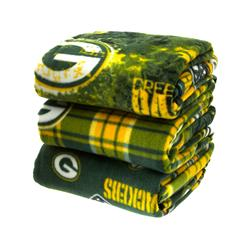 Three Pound NFL Fleece Remnant Bundle Green Bay Packers